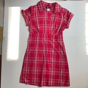 "90s Y2K Grunge red plaid Mini Dress Small 26""W"